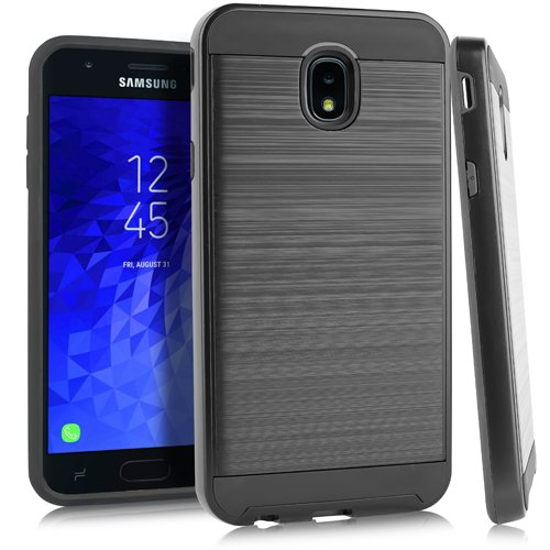 Virgin Mobile (Samsung J7 (2017) J7 perx J7 Prime j727 Galaxy Halo Marvel & DC Charakter-Fall für at & T/Boost Handy/Cricket/MetroPCS/T-Mobile/Sprint/Virgin Mobile/US Cellular/Verizon, Brushed Black)