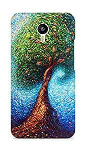 Amez designer printed 3d premium high quality back case cover for Meizu M2 Note (Colorful Tree)