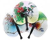 Ruikey 2pcs Abanicos Boda Ventilador plegable Retro Abanico de la Mano Abanico Plegable DIY Decoraciones(Color al azar)
