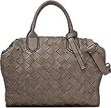 MIYA BLOOM, Damen Handtaschen, Henkeltaschen, Umhängetaschen, Crossover-Bags, 36 x 28 x 10,5 cm (B x H x T), Farbe:Taupe