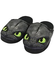 Infantil Dream works Dragons de andar por casa de/zapatillas sin de dientes Toothless, negro