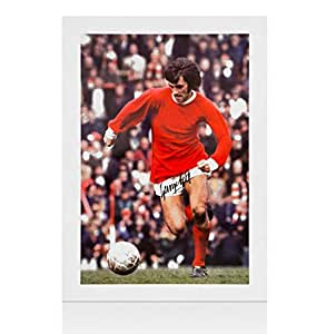 George Best Hand Signed Print - Large Portrait