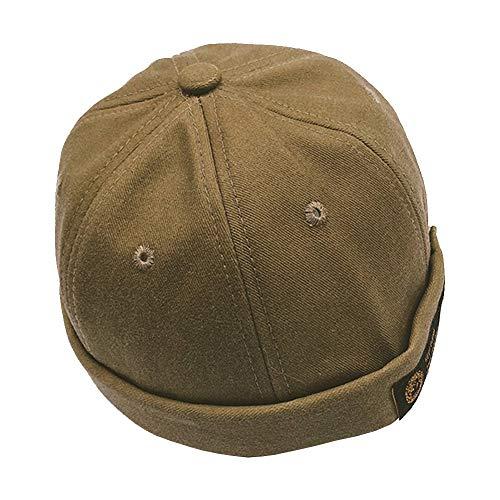 Personalisierte Stricken Hut (Filfeel Melone Hut für Kinder Mädchen Jungen personalisierte einstellbare Kinder Vermieter Hut Dome Melone Hut(Khaki))