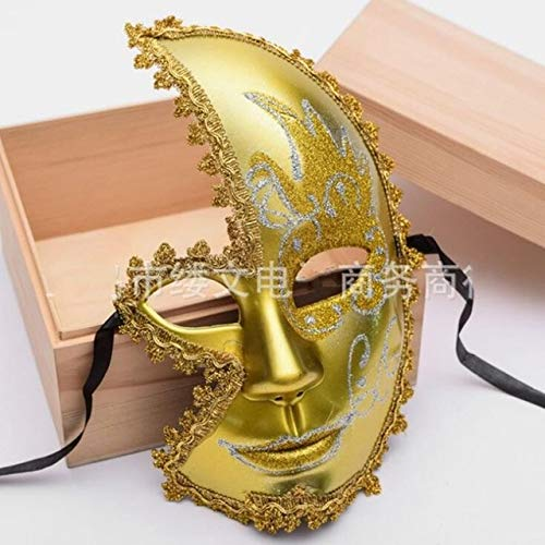 Masquerade Men Mask for Party Ball Prom Mardi Gras,Gold ()