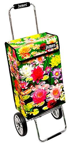james ® Einkaufstrolley Design Lily Deluxe, moderner Einkaufswagen, bunter Lifestyle Shopper, Trolly, Rollkoffer, 40kg Tragkraft, klappbar, 100 Designs, Made in EU! -