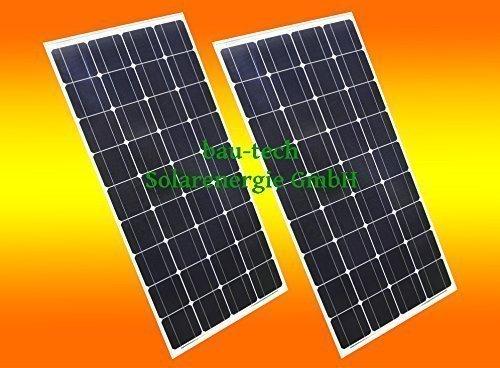 2 Stück 130 Watt Solarmodul Solarpanel Photovoltaik Solarzelle 130 W Monokristallin NEU von bau-tech Solarenergie GmbH