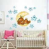 wall art RCC0024 Stickers muraux pour Enfants imprimé sur papiers Peints Ours Doux rêves