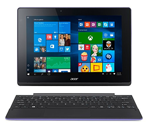 "Acer Aspire Switch 10E Convertibile 2-in-1, Windows 10 Home, Display da 10,1"" Multi-Touch IPS, Processore Intel Atom x5-Z8300, RAM 2GB, HDD da 32GB eMMC, Scheda Grafica Intel HD Graphics, Viola"