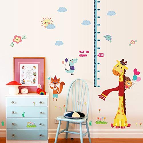 (Kinderzimmer Cartoon Giraffe Höhe Wandaufkleber Kinder Schlafzimmer Eigenschaften Wachstum Chart Tabelle Fox Alligator Ballon Decor Pvc Aufkleber)