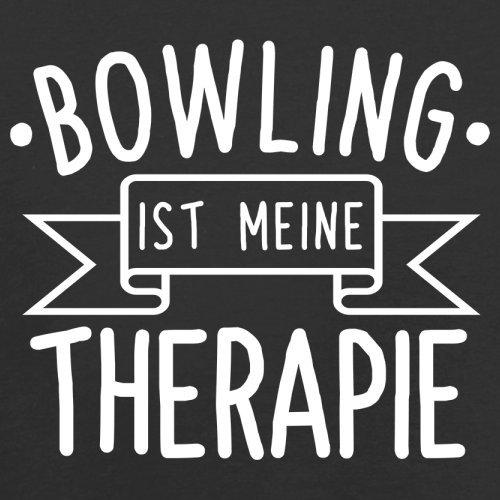 Bowling ist meine Therapie - Herren T-Shirt - 13 Farben Schwarz