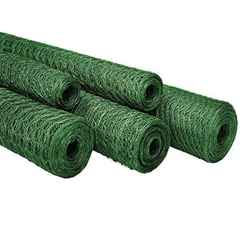 Puro Grün (casa pura Maschendrahtzaun für Garten, Balkon und Kleintiere | Drahtzaun aus Sechseckdrahtgeflecht mit Maschenweite 13 mm | grün beschichtet | viele Größen | 75cm x 25m)