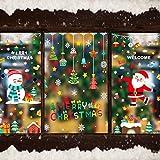 WeyTy Weihnachten Fenstersticker, Fensterdeko für Weihnachts- und Winter-...