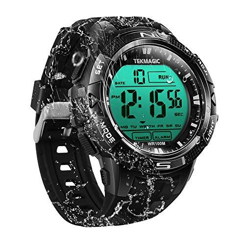 100m Digital Sumergible Impermeable Nadando Reloj de Pulsera con Funciones de Alarma y Cronómetro...