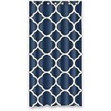 CHATAE 91,4x 182,9cm Custom Classic Navy Blau Vierpass-Polyester Stoff Vorhang für die Dusche 91,4x 182,9cm