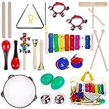 Anpro 23PCS Instruments de Musique Jouets de Percussions Instruments Comprend...