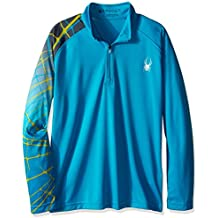 Spyder Linear Web Dry de cuello de los niños y las niñas camisas, niñas, niño de Linear Web Dry W.E.B., multicolor, Niños, Electric Blue/Polar