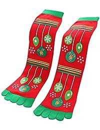 UmayBeauty Cinq orteils chaussettes de Noël hiver chaud vacances nouveauté cadeau vis chaussettes
