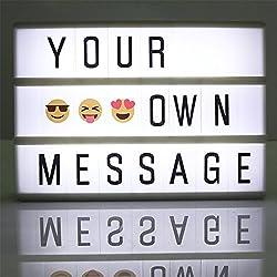 Cine Lightbox A6 caja de luz cinematográfica con 90 letras Combinación libre para la boda, hogar, Photoshoots, fiesta de cumpleaños