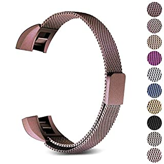 Hotodeal Strap Compatible Fitbit Alta and Alta HR, Metal Bands, Milanese Loop Stainless Steel Bracelet Smart Watch Band with Magnet Lock