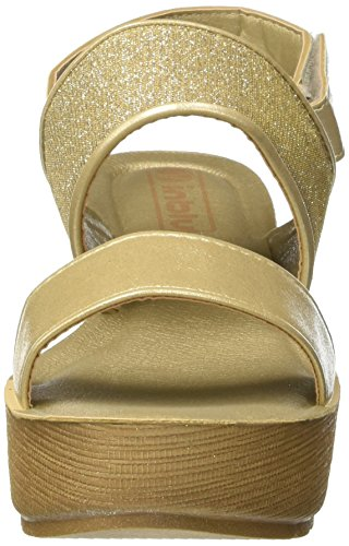 INBLU Damen Girasole Pumps Oro (Platino)