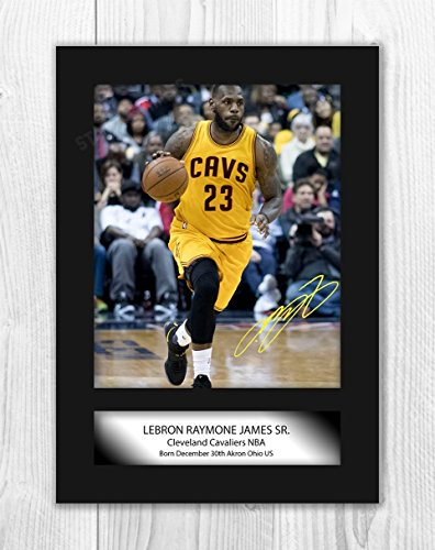 ae2c5f3983042 Engravia Digital Lebron James Cleveland Cavaliers Poster Signed Autograph  Reproduction Photo A4 Print (Unframed)
