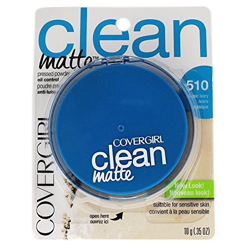 COVERGIRL - Clean Oil Control Pressed Powder Classic Ivory - 0.35 oz. (10 g) (Pressed Powder-cover-girl)