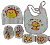 Bubbles Baby Cap Bib Mittens And Booties...