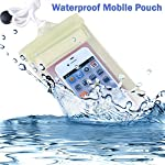 Water and Dust proof mobile pouch for smartphones. Pouch dimension is Height 19cm and Breadth is 10cm. It can be used for smartphones up to 5 inch display. This pouch has 3 layers of air tight zip lock and also an additional stick lock to give compet...