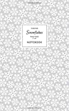 Christmas Snowflake Notebook - Ruled Pages - 5x8 Cuaderno (Silver)