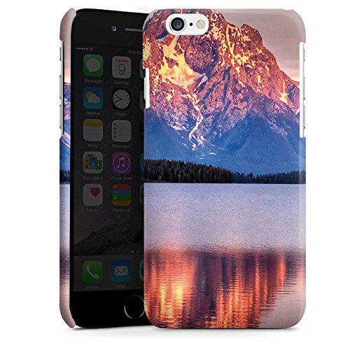 Apple iPhone 5s Housse Étui Protection Coque Paysage alpin Lac Forêt Cas Premium brillant