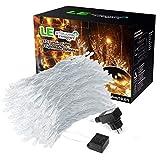 LE Lichterkette LED Lichtervorhang 594 LEDs 8 Modi Warmweiß 3000 Kelvin 6w LED Lichterketten für Weihnachten, Hochzeit, Party, Weihnachtsbeleuchtung 3m * 6m