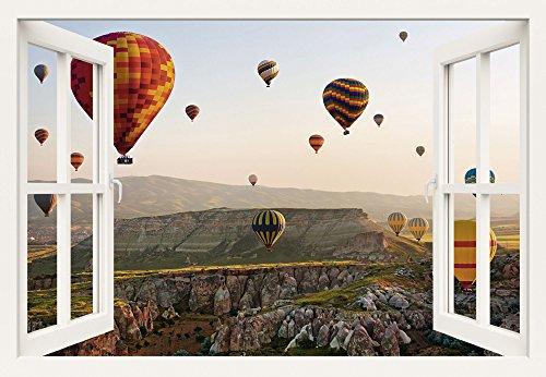 Artland Qualitätsbilder I Wandbilder Selbstklebende Premium Wandfolie 130 x 90 cm Fahrzeuge Ballonfahren Foto Bunt B8DW Kappadokien Ballonfahrt