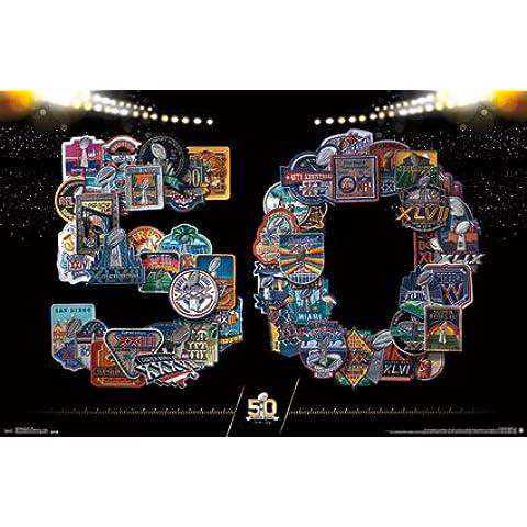 NHL-Poster New Super Bowl 50th Wall Art 55,88 cm x (22 86,36 (34 rp14192 cm