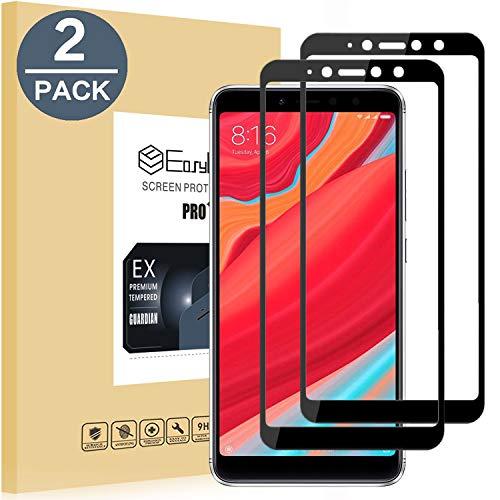 EasyULT Protector de Pantalla para Xiaomi Redmi S2 [2 peces], Cobertura Completa Cristal Templado para Xiaomi Redmi S2 - negre