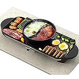 Elektrischer Hot Pot BBQ Eintopf-Instant Topf DUO60 6 Qt 7-in-1 Multi-Use Programmierbarer Schnellkochtopf, Slow Cooker, Reiskocher, Steamer, Sauté, BBQ Topf (schwarz)