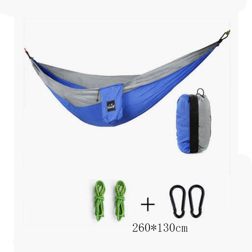 Hammock di campeggio esterno amaca campeggio Dondolo alpinismo amaca blu grigio paracadute amaca am