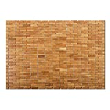 casa pura Luxury Bamboo Bath Mat, Natural - 60 x...