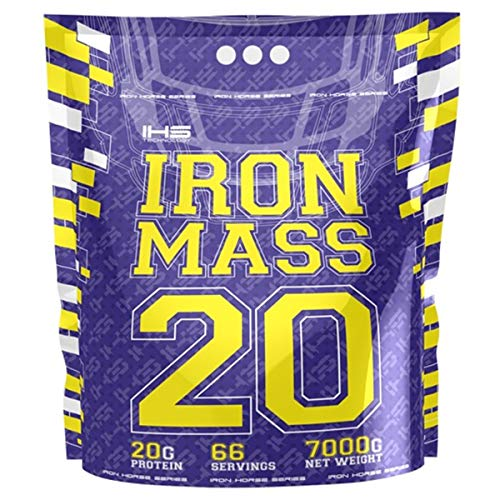 Iron Horse Mass Gainer Whey Protein Powder 1 x 7000g pack Aumento de masa Carbohidratos Carbohydrates (Milk Chocolate)