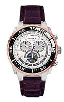 Nautica A14680G - Reloj de pulsera hombre, piel, color marrón de Nautica