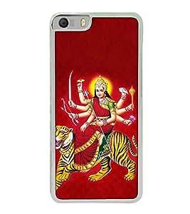 Fuson Designer Back Case Cover for Micromax Canvas Knight 2 E471 (Godess on the tiger Vaishnav Devi Trisul)