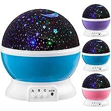 F-FISH LED Star Projector, Starry Sky Projector Romántico Night Light 360 Gira Degree