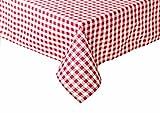 Rustico tavolo coperte in a quadri rosso 80x 80cm cotone