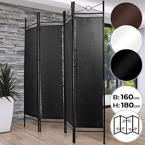MIADOMODO Biombo Separador - 4 Paneles, 180x160cm, como Pantalla, Camb