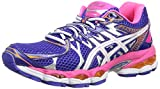 Asics Gel-Nimbus 16, Damen Outdoor Fitnessschuhe, Mehrfarbig (True Blue/White/Neon Pink), 38 EU (5 UK)