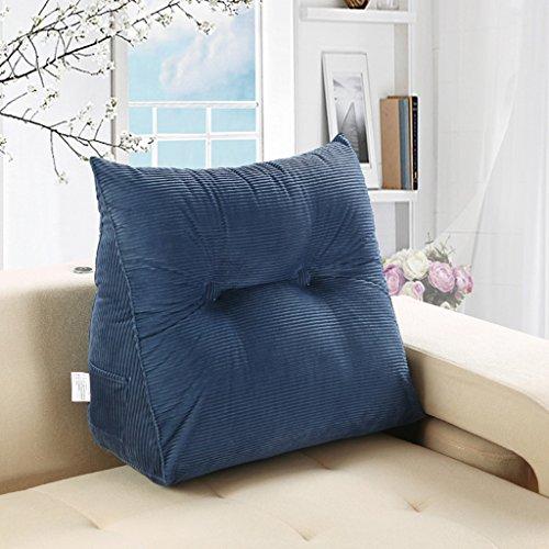 MMM- Coussin triangulaire de bureau coussin de dossier de coussin de coussin de taille de coussin de douille ( Couleur : Un jean bleu )