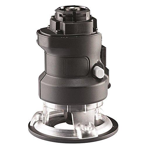 Black+Decker Multievo Multifunktionswerkzeug Oberfräsen-Kopf (Multievo-Zubehör, Spindelarretierung, Frästiefen-Einstellung, Frästiefe bis zu 25,4 mm, mit eingebauter Staubabsaugung) MTRT8