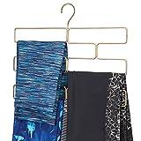 mDesign Compatto appendino per sciarpe, leggings e teli – Organizer con 8 comodi scomparti da appendere nell'armadio – Porta sciarpe in metallo – ottone