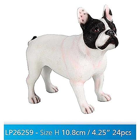 Leonardo Collection French Ornament Bull Dog, Stone, White