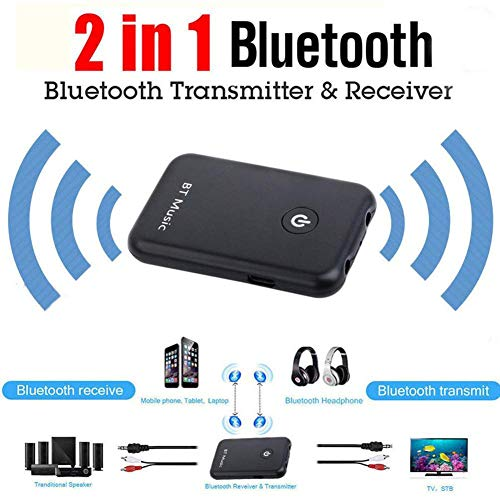 V4.2 Bluetooth Sender Empfänger 2 in 1 Wireless Transmitter Receiver 3.5-mm Audio Adapter für TV / Auto Soundsystem Paarung mit geringer Latenz mit 2 Bluetooth Kopfhörern und Stereoanlage Google G1 Bluetooth