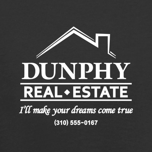 Dunphy Real Estate - Herren T-Shirt - 13 Farben Schwarz